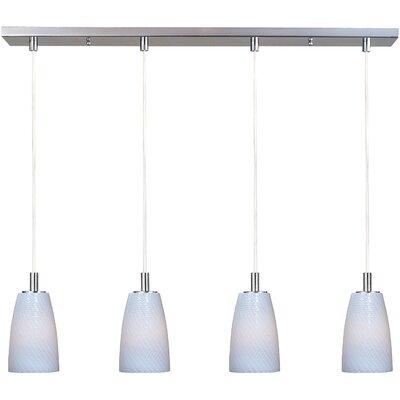 Pegasi LED 4-Light Pendant Finish: Satin Nickel, Shade Color: White