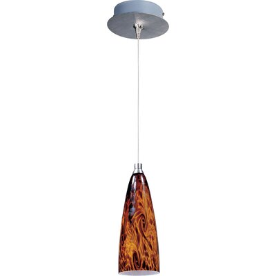 Lamptrai Amber Lava 1-Light RapidJack Pendant and Canopy