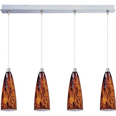 Lamptrai Amber Lava 4-Light RapidJack Pendant and Canopy