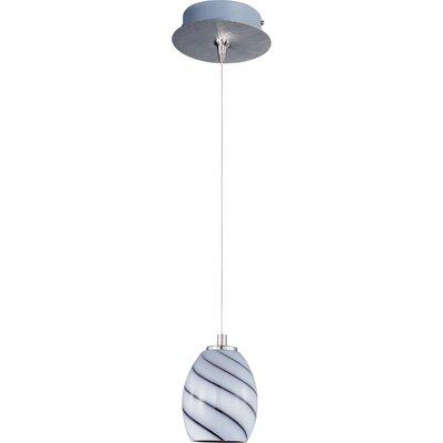 Lamptrai Swirl 1-Light RapidJack Pendant and Canopy Glass Color: Grape Swirl