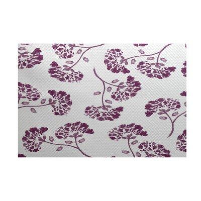 Auburn Purple/White Indoor/Outdoor Area Rug