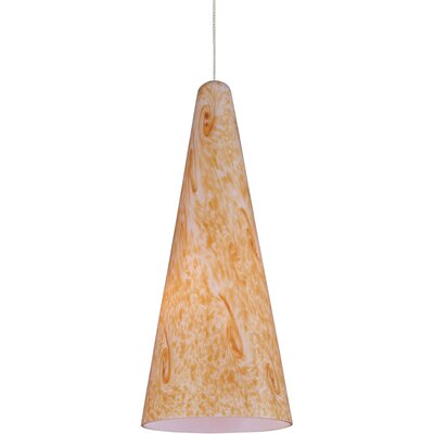 Mcwilliams Lava 1-Light RapidJack Pendant Glass Color: Gold Lava