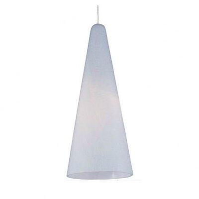 Lamptrai Lava 1-Light RapidJack Pendant Glass Color: White Lava