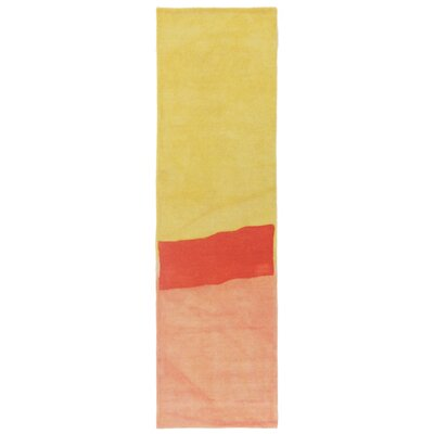 Vicente Hand-Tufted Orange Area Rug Rug Size: 5 x 8