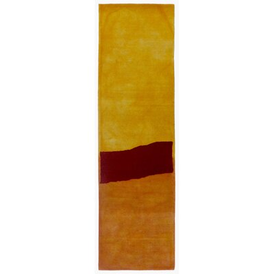 Vicente Hand-Tufted Yellow Area Rug Rug Size: 9 x 12