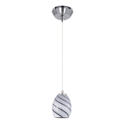 Typhon RapidJack 1-Light Mini Pendant Shade Color: Grape
