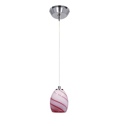Mcgann RapidJack 1-Light Mini Pendant Shade Color: Cherry