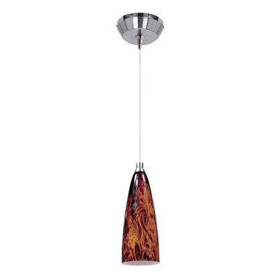 Lamptrai Amber Lava 1-Light RapidJack Pendant and Canopy