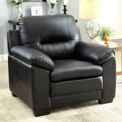Brentry Club Chair Upholstery: Black