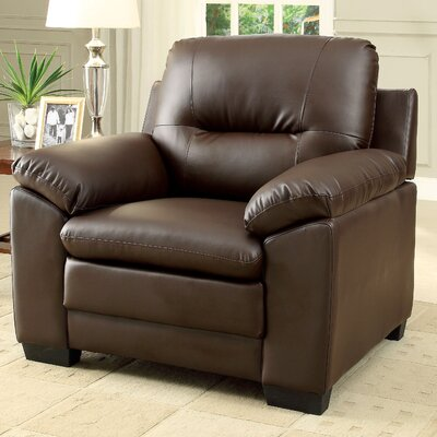 Brentry Club Chair Upholstery: Brown