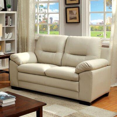 Brentry Loveseat Upholstery: Ivory
