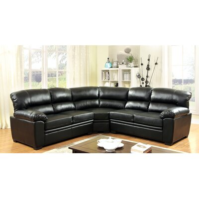Brentry Sectional Upholstery: Black