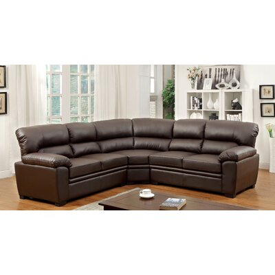 Brentry Sectional Upholstery: Brown