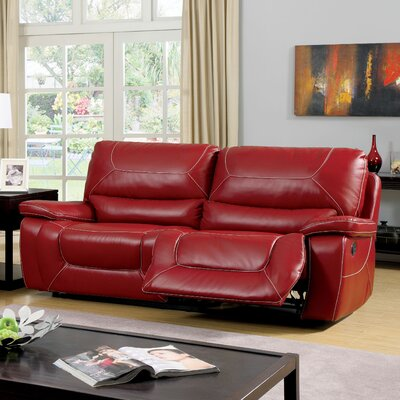 Lockheart Reclining Sofa Upholstery: Red