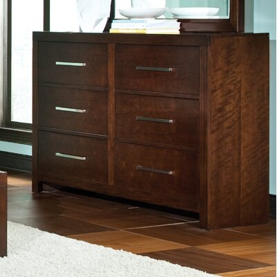 Acton Turville 6 Drawer Standard Dresser with Mirror