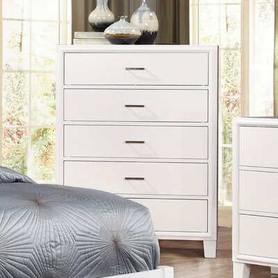 Leporis 5 Drawer Chest Color: White