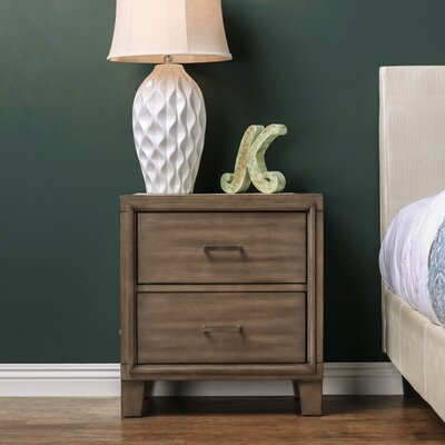 Leporis 2 Drawer Nightstand Finish: Brown