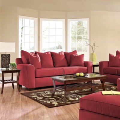 Anderson Mill Sofa Upholstery: Microsuede Cinnabar