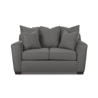 Anderson Mill Loveseat Upholstery: Charcoal