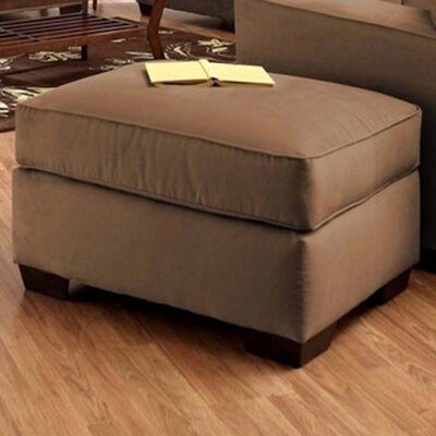 Anderson Mill Ottoman Upholstery: Microsuede Chocolate
