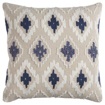 Miramar Cotton Throw Pillow Color: Blue