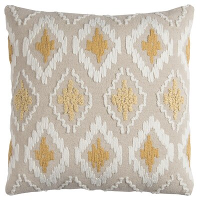 Miramar Cotton Throw Pillow Color: Yellow