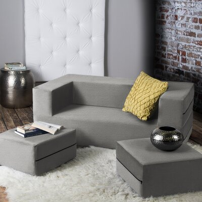 Eugene Sleeper Loveseat Finish: Gray