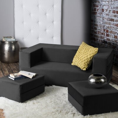 Eugene Sleeper Loveseat Finish: Black