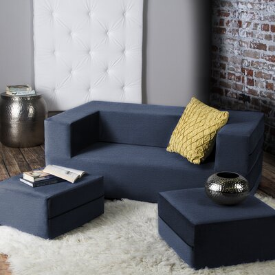 Eugene Sleeper Loveseat Finish: Blue