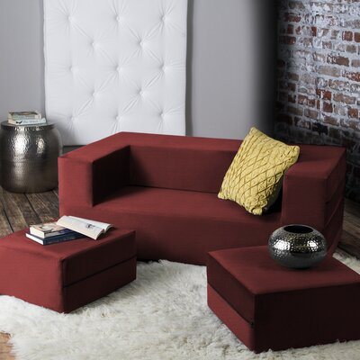 Eugene Sleeper Loveseat Finish: Red