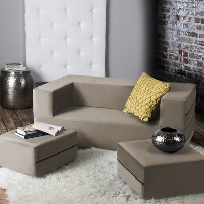 Eugene Sleeper Loveseat Finish: Beige