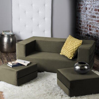 Eugene Sleeper Loveseat Finish: Green