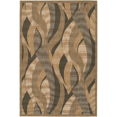 Karina Seagrass Beige Indoor/Outdoor Area Rug Rug Size: 39 x 55
