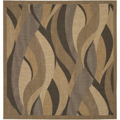 Karina Seagrass Beige Indoor/Outdoor Area Rug Rug Size: Square 86