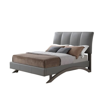 Shana Upholstered Sleigh Bed Size: Twin, Upholstery: Gray