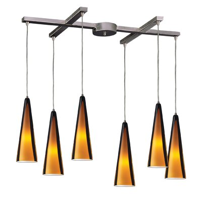 Josefina 6-Light Pendant Glass Type: Sahara