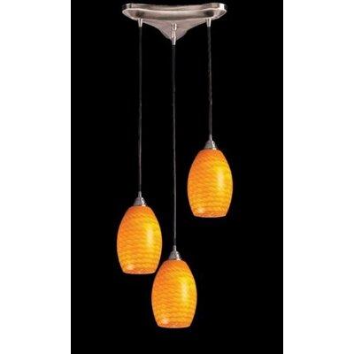Flemington 3-Light Pendant Glass Type: Multi Glass