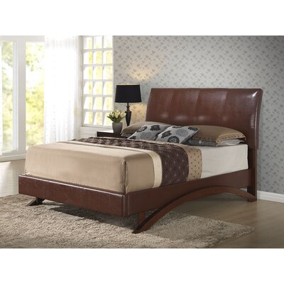 Shana Upholstered Sleigh Bed Size: Twin, Color: Cappuccino
