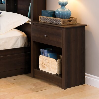 Penelope Tall Espresso 1 Drawer Nightstand