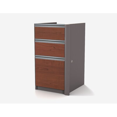 Karla 29.4 H x 15.4 W Desk File Pedestal Finish: Bordeaux