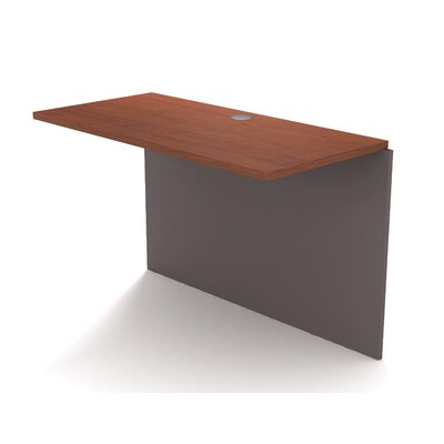 Karla 30.4 H x 39.4 W Desk Bridge Finish: Bordeaux and Slate