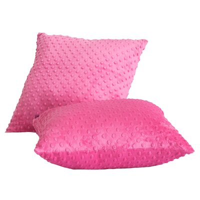 Lubuklinggau Dimple Dot Throw Pillow Color: Candy Pink