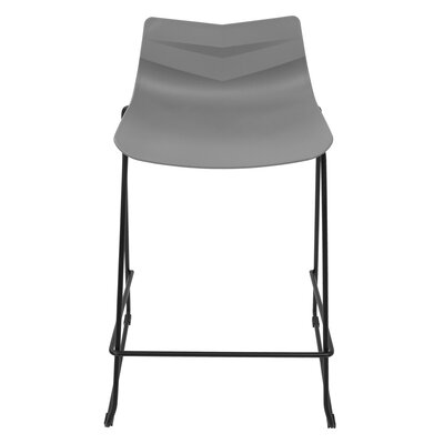 Bo�tes 25 Bar Stool Finish: Black/Gray