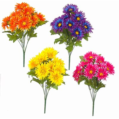 Gerbera Daisy Assortment Bush Flowers (Set of 12)