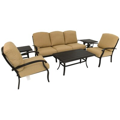 Perrinton 6 Piece Deep Seating Group with Cushion