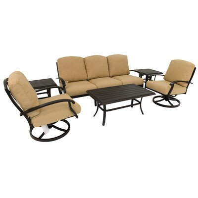 Perrinton 6 Piece Rocker Seating Group with Cushion