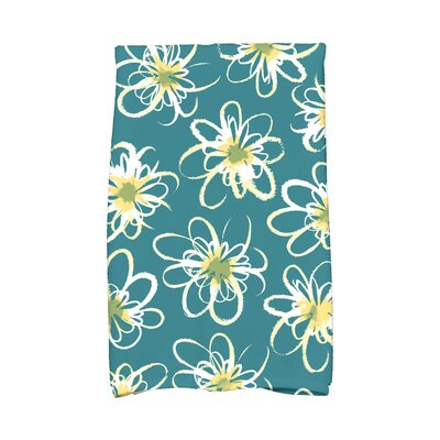 Floral Hand Towel Color: Teal