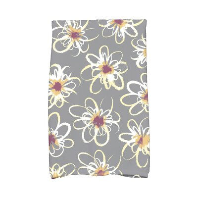 Floral Hand Towel Color: Gray