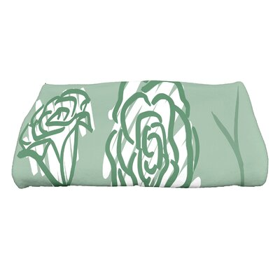 Spring Floral 2 Floral Print Bath Towel Color: Green