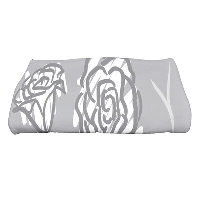 Spring Floral 2 Floral Print Bath Towel Color: Gray